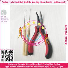 "5"" Elbow Pliers+2 Latch Needles Nano Ring Beads Bracelet Necklace Jewelry Making"