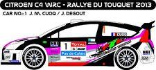 DECALS 1/43 CITROËN C4 WRC #1 - CUOQ - RALLYE DU TOUQUET 2013 - MF-ZONE D43186