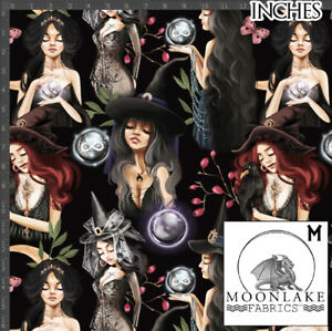 Witches The Mysterious Coven Goth 100% Quality Cotton Poplin Fabric *exclusive*