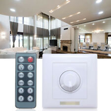 LED Dimmer Switch 8A IR Remote 12 Key Adjustable Brightness Controller DC12-24V