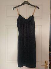 Vintage little black velvety dress size 10