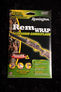 10 Sheets Remington REM WRAP Firearm Gun Camouflage Tape RealTree Hardwoods HD