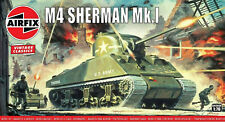 Airfix Vintage Classic Sherman M4 Mk.I 1:76 Scale Plastic Model Tank A01303V
