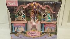 NEW BARBIE PRINCESS AND THE PAUPER WEDDING VANITY DOLL PLAY SET ANNELIESE ERIKA