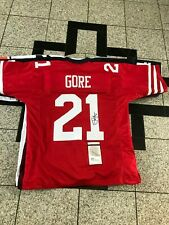 FRANK GORE AUTOGRAPHED SIGNED SAN FRANCISCO 49ERS #21 RED JERSEY JSA