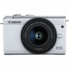 Canon EOS M200 Mirrorless Digital Camera with 15-45mm Lens (White) USA Warranty!