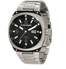 Freestyle Men's Silver Black Trench Luminous Watch 0641