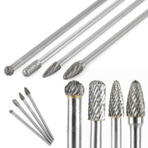 4 Stück lange Frässtifte HSS Wolframcarabid Hartmetallfräser Fräser 6mm C/D/F/G