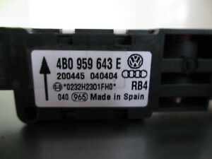 VW - AUDI  AIRBAG  CRASHSENSOR  4B0 959 643 E