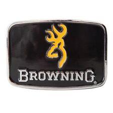 Browning Buckmark Men's Black and Gold Enamel Belt Buckle Hunting Shooting Gift