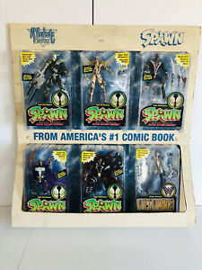Spawn Action Figure Store Display Set of 6 (McFarlane Toys) Great Condition!