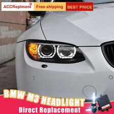 2X For BMW M3 E92 E93 Headlights assembly Bi-xenon Lens Projector LED DRL 08-13