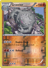 Graveler Uncommon Reverse Holo Pokemon Card XY2 Flashfire 46/106