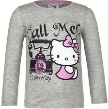TEE SHIRT manches longues HELLO KITTY 3 ans gris KITTY Enfant NEUF