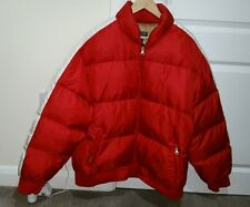 Ralph Lauren polo jeans Co men's puff Ski jacket XL red Goose Down.