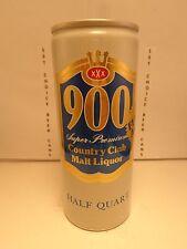 900 COUNTRY CLUB MALT LIQUOR 16oz ALUMINUM PULL TAB BEER CAN #1  TEXAS