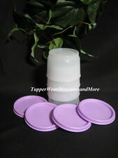Tupperware  NEW Set of 4 Snack Cup Cups Bowls Lunch Light Purple Seals