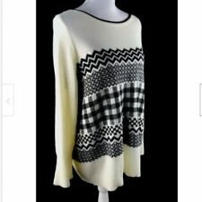 Talbots Womens Size 2XP Sweater Slightly Bell Sleeves Wool Blend Ivory