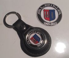 ALPINA (BMW), 50 YEARS '1965 - 2015' REAL LEATHER KEY RING & STICKER