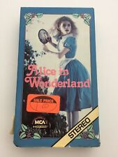 VHS Alice In Wonderland 1982 Children's Theater Company  MGA  Video RARE—HTF PBS