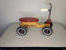 Vintage Radio Flyer Maple Wood USA 4 Wheel Scooter Cycle Kids Genuine Classic