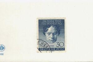 1952 Berlin Germany SCOTT #9N80 LUDVIG VAN BEETHOVEN used stamp