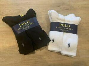 Polo Ralph Lauren Men's Classic Sport Socks Crew Cushioned Sole 6 Pairs New