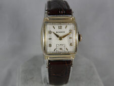 1930`s BENRUS ART DECO STEPPED CASE MAN`S STUNNING  WATCH...AWESOME DIAL
