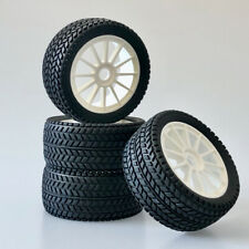 Buggy Tyre Wheels Set Street With 12-Speichenfelge White 1:8 4 Piece partCore