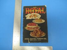 1922 New Royal Cook Book Royal Baking Powder Maple Icing Berry Pies 49 Pgs S1225