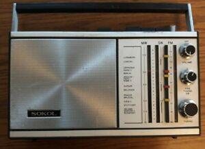 Transistorradio, Sokol model 308 FM-AM, UdssR, funktioniert