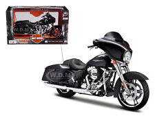 2015 HARLEY DAVIDSON STREET GLIDE BLACK MOTORCYCLE MODEL 1/12 BY MAISTO 32328