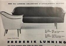 1962 Fredrik Kayser Designer Teak Sofa Chair Vintage Lunning Furniture Print Ad