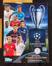 Mint UK Edition Panini Champions League 2015 - 2016 Sticker Set Complete 15 16