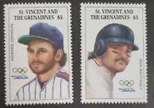 Saint Vincent - Howard Johnson and Don Mattingly Baseball Players - MNH