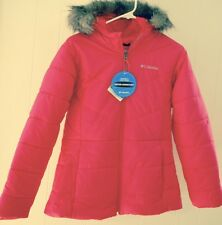 Columbia Jacket XL 18 20 Katelyn Crest Pink NWT $115 Lined Hood Faux Fur