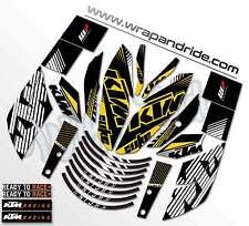 KTM rokbagoros inspired Graphics Kit [Golden] Duke 200 / 390