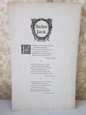 Vintage Print,SAILOR JACK,Real Sailor Songs,1891