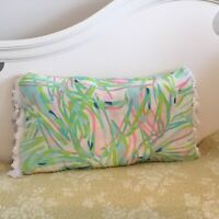 """Custom New Rectangular throw pillow made with LILLY PULITZER fabric; 22"""" X 12"""""""