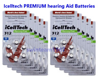 iCellTech **Premium** Hearing Aid Batteries Size 312 (60 pack) Expire 2022