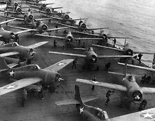 "Flight Deck of USS Hornet Battle of Midway F4F-4 Wildcats 8""x 10"" WWII Photo 367"