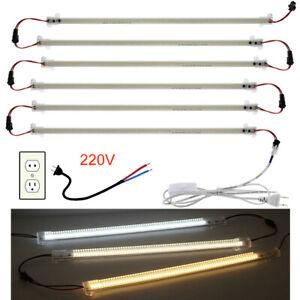 1-6X 220V LED Bar Light Rigid Strip Under Cabinet Floodlight Tube Lamp for Home
