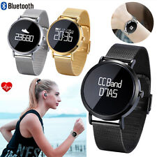 Bluetooth Smart Watch Hear Rate Monitor Watch Call Sync For Samsung S9 S10 LG G6