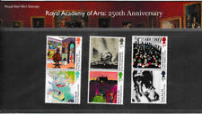 GB 2018 ROYAL ACADEMY of ARTS 250th ANNIVERSARY PRESENTATION PACK No.556