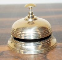 Solid Brass Antique Victorian Style Service Desk Office Bell Hotel Counter Bell