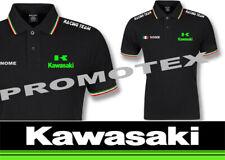maglia polo KAWASAKI stampata personalizzata cotone bordi tricolore racing