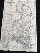 "WW1 GERMAN ANTIQUE MAP "" Der große Feldzug im Osten"" April - Oktober 1915."