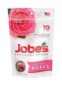 Jobe's 04102 Rose Fertilizer Spikes, 10, Multicolor