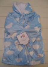 Boys Girls Ron Ron Luxurious and Adorable Faux Mink Cloud Hooded Bath Robe 0-18M