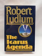 The Icarus Agenda Signed by Robert Ludlum First Edition HC DJ Bourne Author